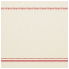 15.5 in x 15.5 in FashnPoint White and Red Stripe Dinner Napkins Flat Pack 750 ct.