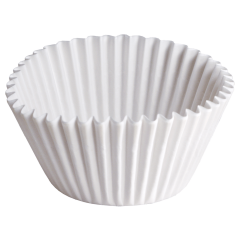 4 in White Fluted Baking Cups 10000 ct.