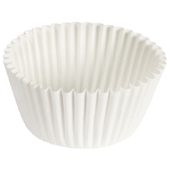 4.75 in White Fluted Baking Cups 10000 ct.