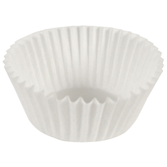 3.25 in White Fluted Baking Cups 10000 ct.