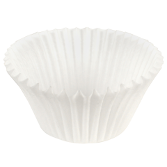 5.5 in x 2 in White Fluted Baking Cups 10000 ct.
