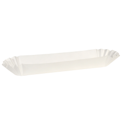10 in White Fluted Hot Dog Trays 250 ct.