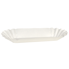 6 in White Fluted Hot Dog Trays 500 ct.