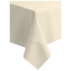 82 in x 82 in Linen-Like Ecru Ivory Airlaid Tablecovers 12 ct.