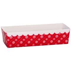 Red Snowflake Loaf Pan