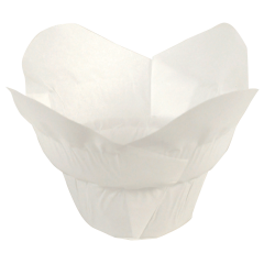 2.25 in Small White Paper Lotus Cups 2500 ct.