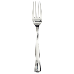 7.5 in Metallic Silver Plastic Forks 500 ct.