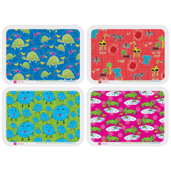 13.75 in x 18.75 in Kids Animals Multipak Traymats 1000 ct.