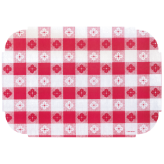 10 in x 14 in Tiffany Edge Linenized Red Gingham Paper Placemats 1000 ct.