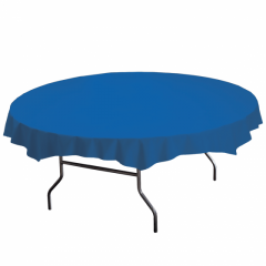 82 in Solid Color Plastic Octy-Round Tablecloths 12 ct.