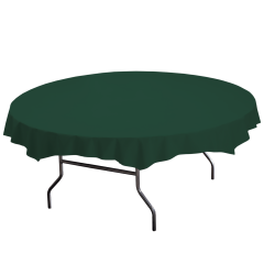 82 in Hunter Green Plastic Octy-Round Tablecloths 12 ct.