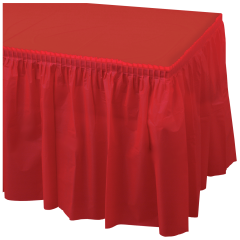 14 ft x 29 in Red Plastic Tableskirts 6 ct.