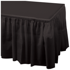 14 ft x 29 in Black Plastic Tableskirts 6 ct.