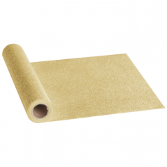 12.5 in x 108 in Gold Sparkle Table Runners 12 ct.