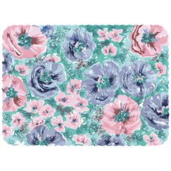 14 in x 19 in Scalloped Whispering Floral Traymats 1000 ct.
