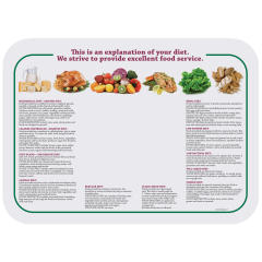 14 in x 19 in Nutrition Paper Traymats 1000 ct.