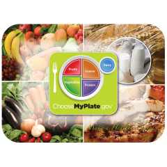 14 in x 19 in Nutrition & Health Printed Traymats 1000 ct.