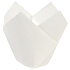 3.5 in Small White Paper Tulip Cups 2500 ct.