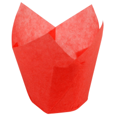 3.5 in Small Red Paper Tulip Cups 2500 ct.