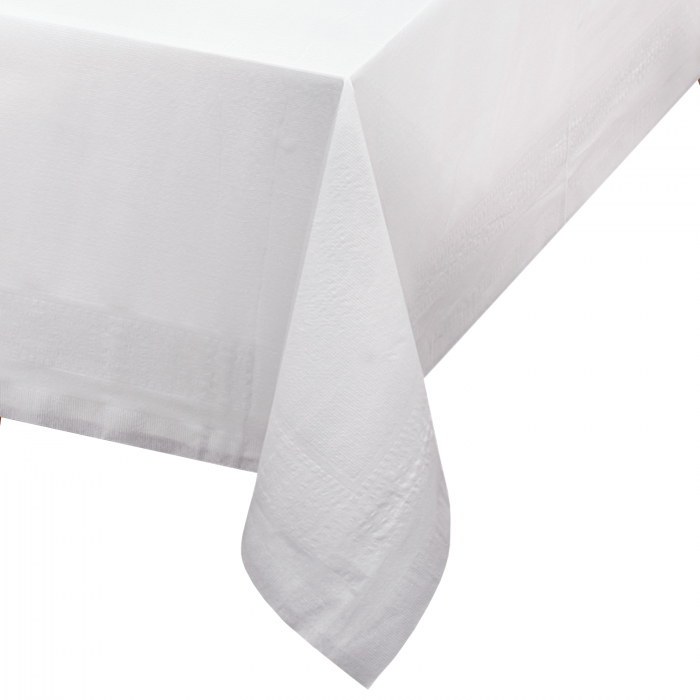 225 & 54 in x 108 in Linen-Like Select White Airlaid Tablecovers 24 ct.