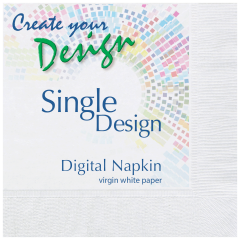 Bright White Beverage Napkins