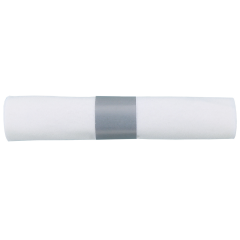 White Linen-Like® CaterWrap® Napkin Rolled Cutlery