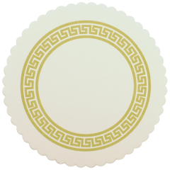 306 Gold Greek Key Budgetboard Coaster