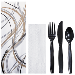 Printed Cutlery Pouches with Cutlery