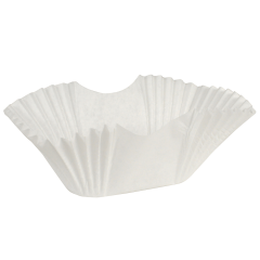White Fluted Burger Cup