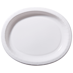 White Oval Paper Platters