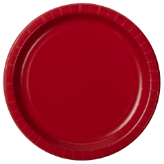 Red Round Paper Plates
