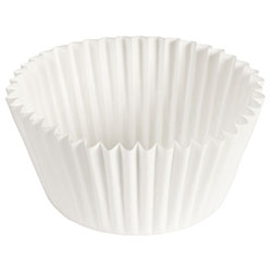 White Fluted Bake Cup