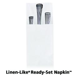 8 in x 3 in Linen-Like Ready-Set White Dinner Napkins 750 ct.